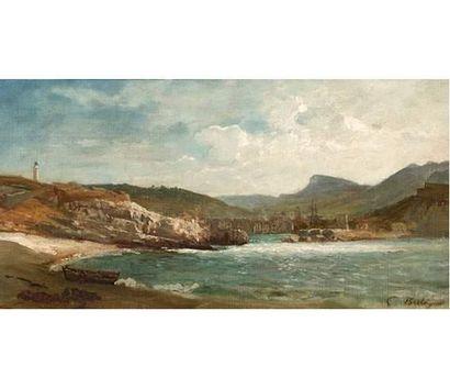 Paul BISTAGNE (1850-1886) L'entrée du port...