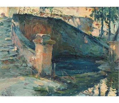 Joseph MILON (1868-1947) Bastide à Encagnane....