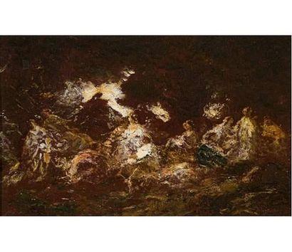 Adolphe MONTICELLI ( 1824-1886 ) Decameron....