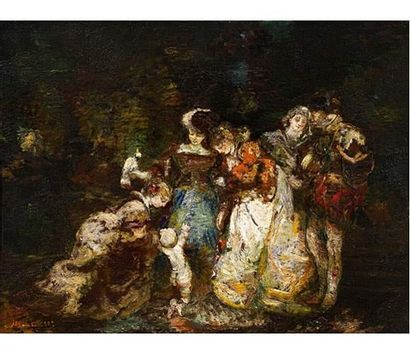 Adolphe MONTICELLI ( 1824-1886 ) Personnages...