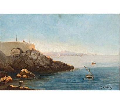 Louis François GAUTIER (1855-1947) Bord de...