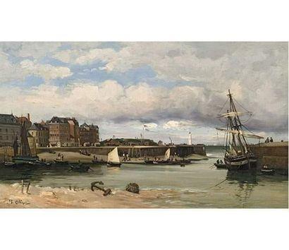 Jean Baptiste OLIVE (1848-1936) Port normand...