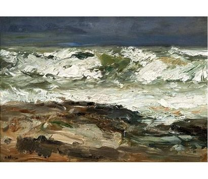 Jean Baptiste OLIVE (1848-1936) La vague....