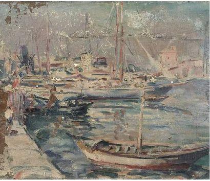 Ecole vers 1920 Le port de Marseille avec...