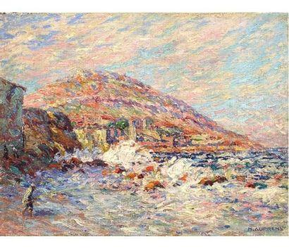 Henri AURRENS (1873-1934) Pêcheurs en bord...
