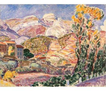 Augustin CARRERA (1878-1952) Village en Provence....