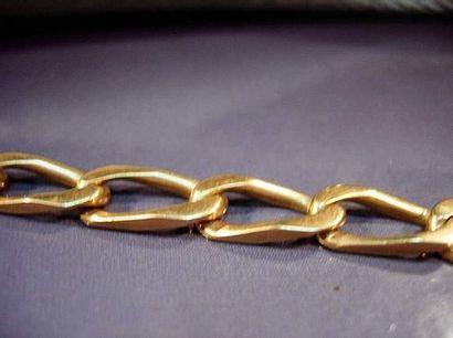 Bracelet en or jaune maille cheval Poids...