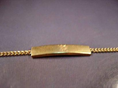 Bracelet d'identité bébé en or jaune maille...