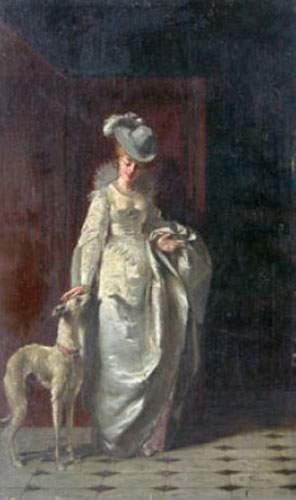 Charles François PÉCRUS (1826-1907) Élégante...
