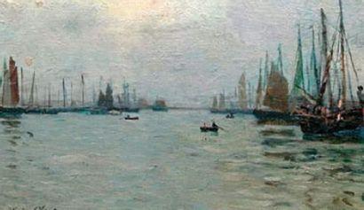 Eugène CHIGOT (1860-1923) Barques et bateaux...