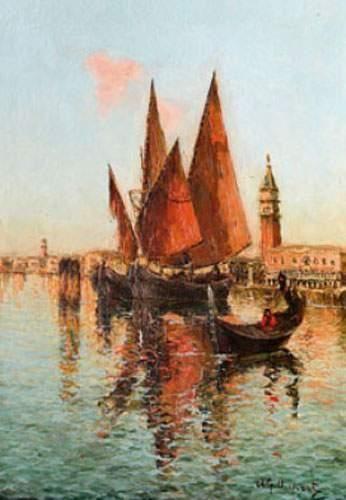 Albert-Ferdinand DUPRAT (1882-1974) Voiliers...