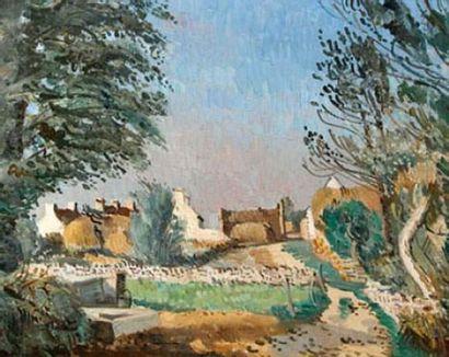 Edmond CÉRIA (1884-1955) « Kervenec » Huile...