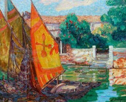 Léon DETROY (1857-1955) Venise Huile sur...