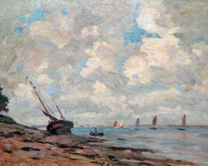 Victor BRUGAIROLLES (1869-1936) Voiliers...