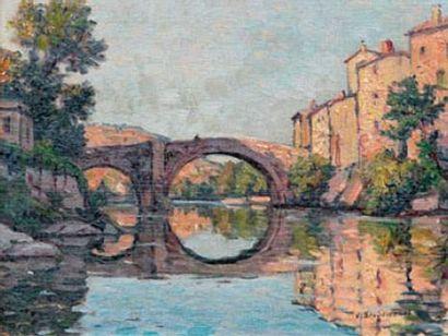 Victor BRUGAIROLLES (1869-1936) Pont de Vigan...