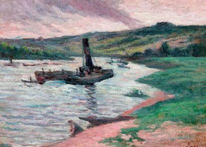 Maximilien LUCE (1858-1941) Remorqueurs sur...