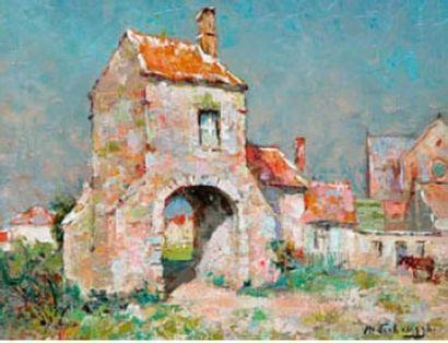 Charles Henri VERBRUGGHE (1877-1974) Village...