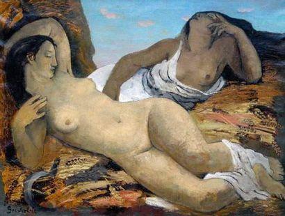 Jean SOUVERBIE (1891-1981) Deux odalisques...