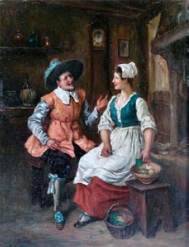 Gaston BONFILS (1855-1946) Conversation galante...