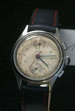 TELDA Vers 1940 Beau chronographe bracelet...