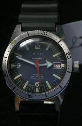 C.S.M Vers 1960 Montre bracelet de plongée...