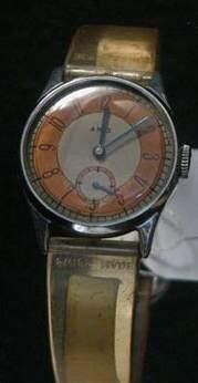 ARIS Vers 1940 Montre bracelet en métal chromé,...