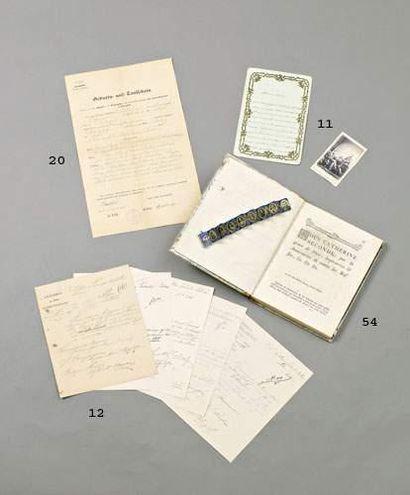 Lot 5 documents du bataillon de Tirailleurs...