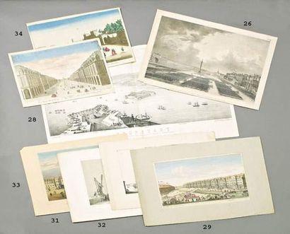 Vue de Cronstadt en 1854. Publiée à Naples...