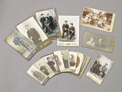 Lot 17 photos.1900/1914 Fonctionnaires et...