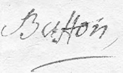 ANCIEN REGIME Georges Louis Leclerc de BUFFON...