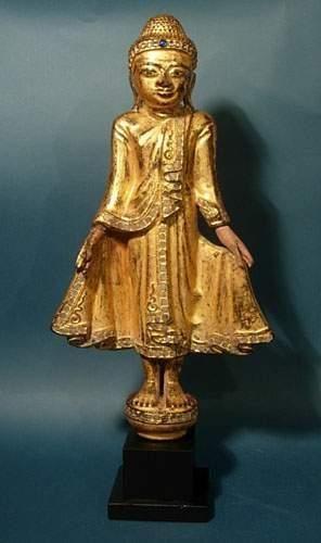 BIRMANIE - LAOS - VIETNAM Bouddha en bois...