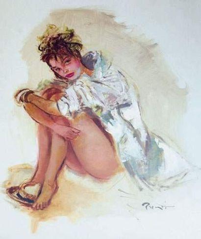Pierre-Laurent BRENOT (1913-1998). « Le canotier...