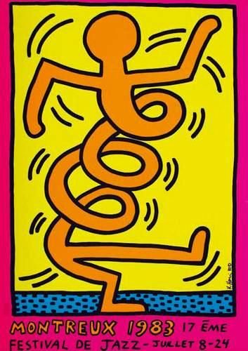 KEITH HARING Montreux 1983 1983 Festival...