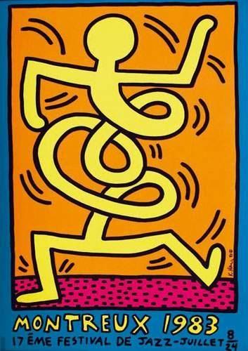 KEITH HARING Montreux 1983 17ème Festival...