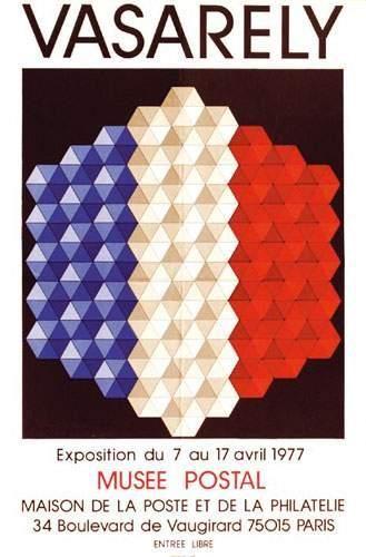 VASARELY Vasarely Musée postal 1977. Mourlot...