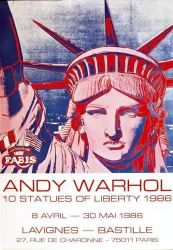 WARHOL ANDY Andy Warhol 10 statues of liberty...