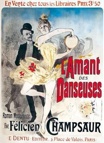 CHERET L'Amant des Danseuses 1888 Roman moderniste...