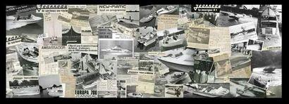 Patchwork historique, noir et blanc. Format...