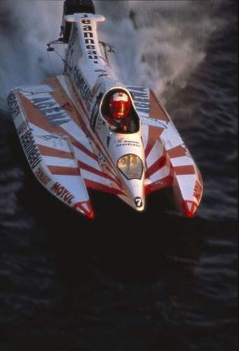 Michel Rousse sur un Formule 3000 Jeanneau...