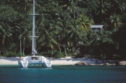 Mouillage aux Seychelles, Lagoon Format :...