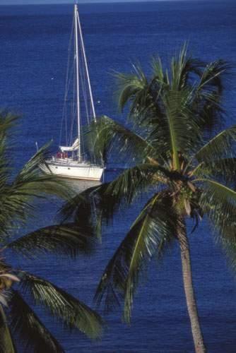 Mouillage aux Antilles Format : 60 x 80 cm...