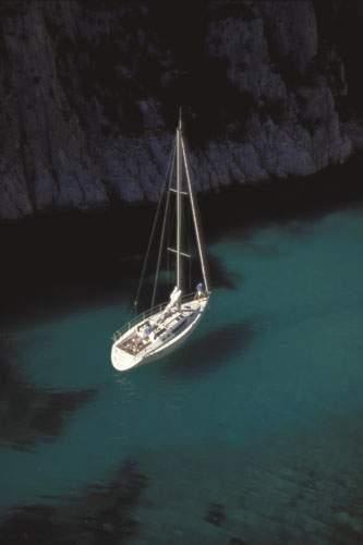 Mouillage Méditerranée Format : 60 x 80 cm...