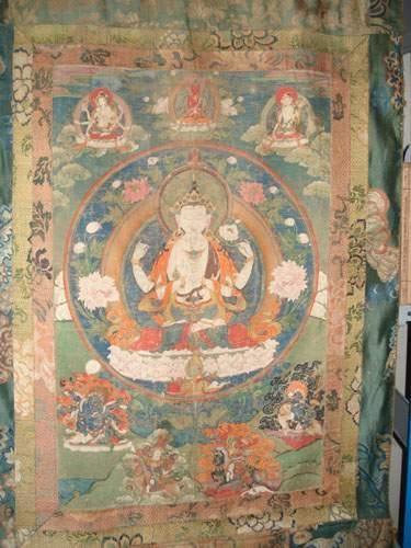 TIBET - Nepal (XIXe siècle) Tanka représentant...