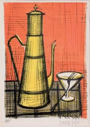Bernard BUFFET (1928-1999) « La cafetière,...