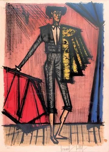 Bernard BUFFET (1928-1999) « Toréro » Lithographie...