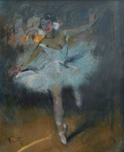 FORTUNEY (1878-1950) « Danseuse » Pastel,...