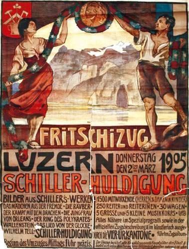 SUISSE / SWITZERLAND Luzern E. R. 1905. Fritschizug....