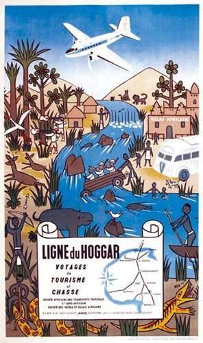 AFRIQUE / AFRICA Ligne du Hoggar 1947 DAD...