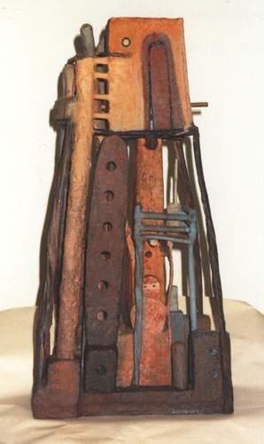 LANCHON Isabelle Rue quatre faces Sculpture...