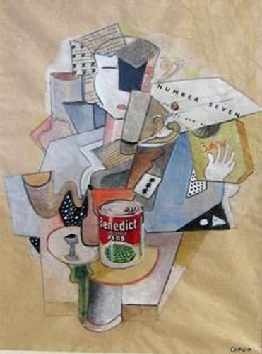 KOVO Philippe Composition Gouache et collage...